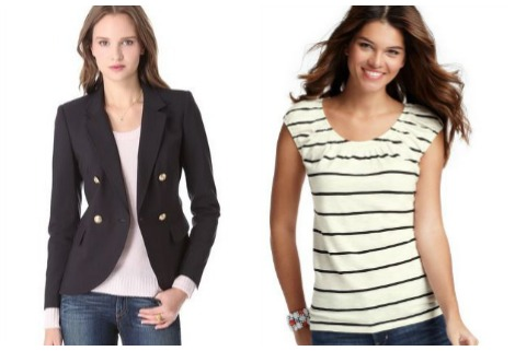 Julie Bowen blazer and shirt collage
