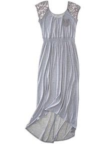 Women's Xhileration High Low Lace Trim Maxi Dress