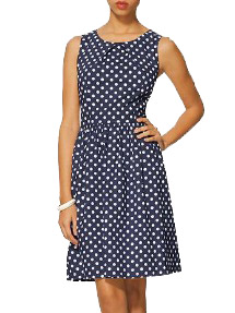 Womens Navy print dress
