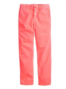Boys sun-faded chinos in neon reef
