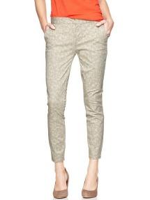 Womens GAP Printed Skinny Mini Skimmer Khakis