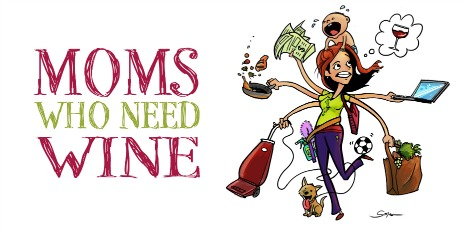 Moms who need wine logo