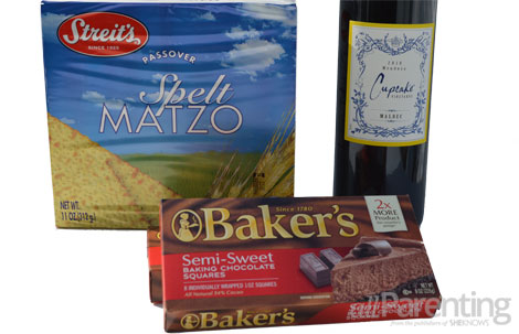 Classic Passover cake ingredients