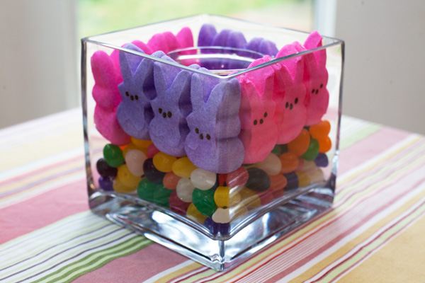 Peeps and Jellybean centerpiece