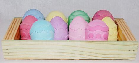 Sugar-free ideas- Easter egg sidewalk chalk