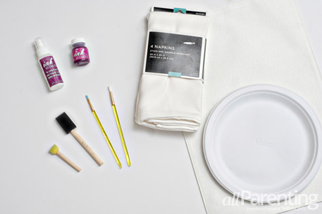 Paint your own table linens what you will need