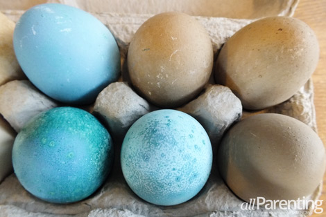Natural dyed ugly Easter eggs fail