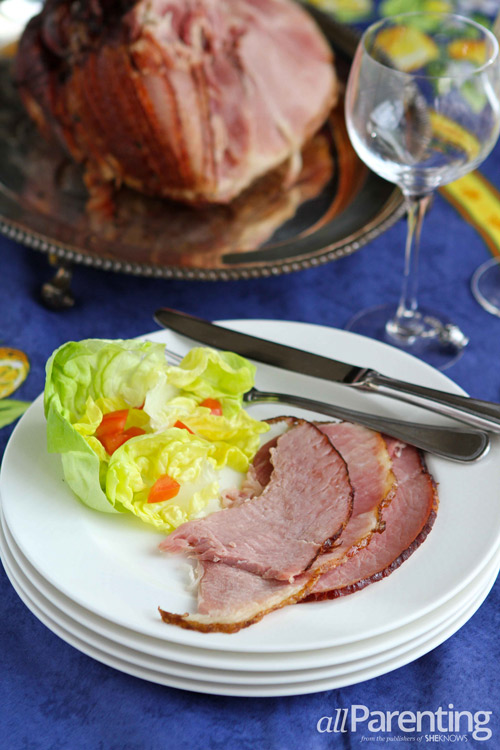 Easter ham with orange and brown sugar glaze