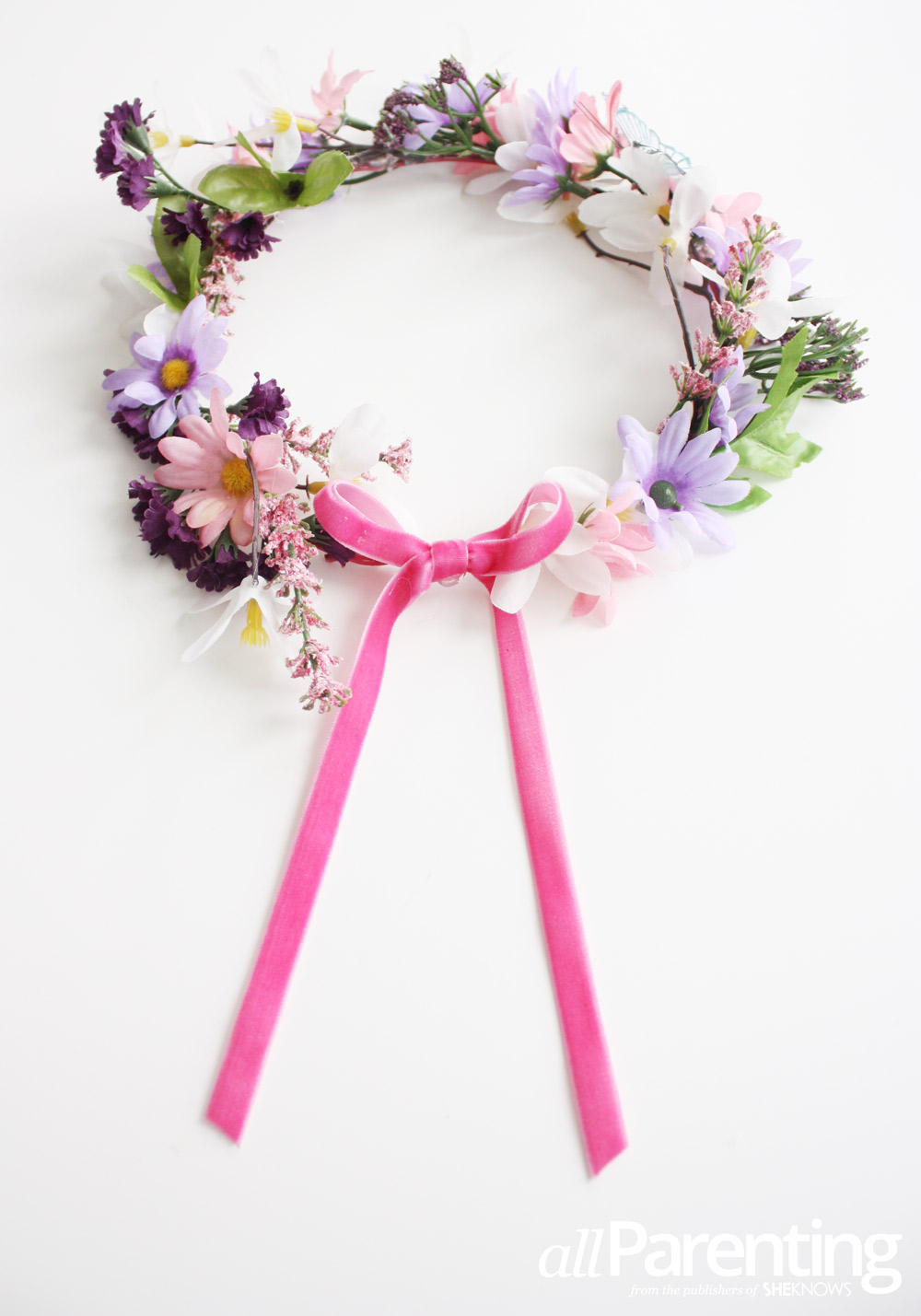 Make a childrens fairy flower crown allparenting fairy flower crown izmirmasajfo