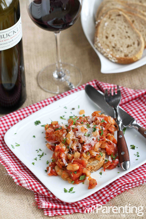 allParenting White Bean Ragout on Toast