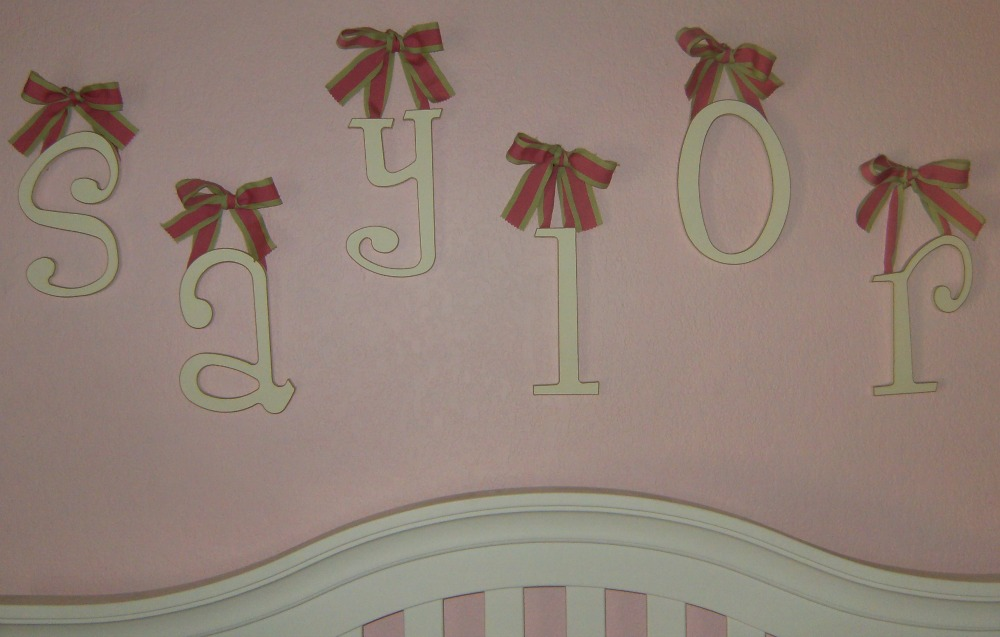 Saylor nursery room baby name reveal