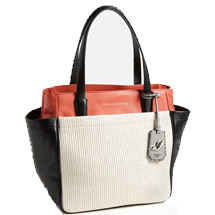Leather and straw tote purse diaper bag alternative