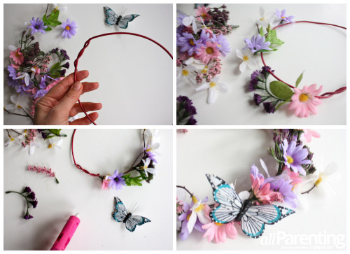 Fairy flower crown collage