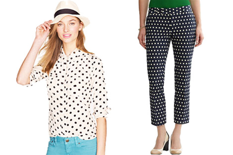 Hipster trend polka dot products
