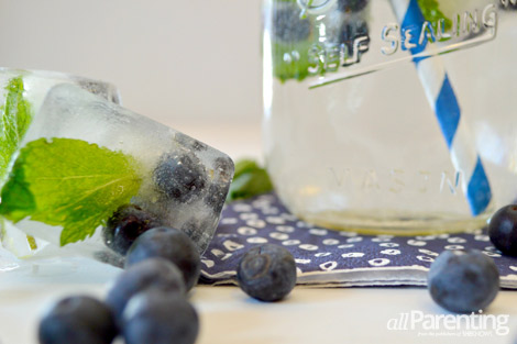 blueberry and mint ice cubes allParenting