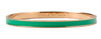 Kate Spade stroke of luck emerald bracelet