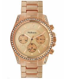 Womens gold-tone bracelet watch
