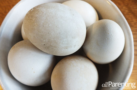 Ugly natural dyed easter eggs