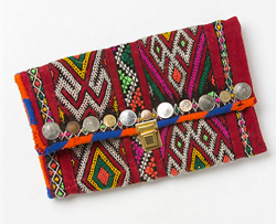 great exotic print clutches from Anthropologie