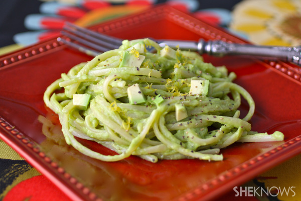Lemony Avocado Linguini Alfredo