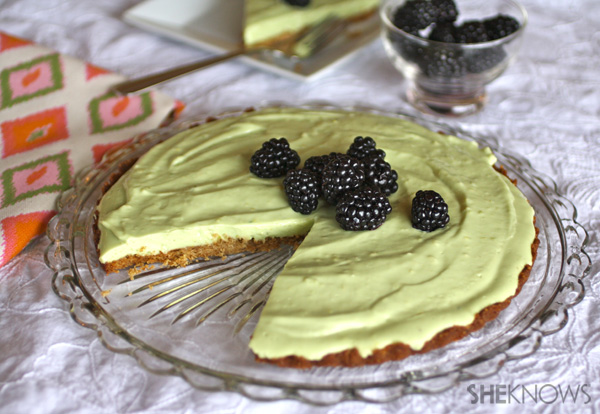 Avocado Cheesecake Tart