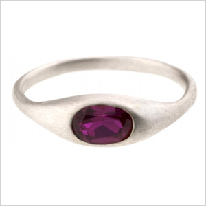 Bario-Neal reticulated ruby ring
