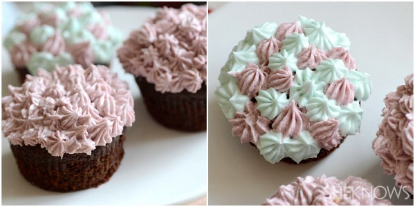Beautiful flower cupcakes