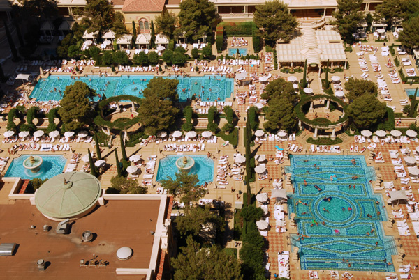 Swimming pools at Bellagio hotel