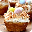Birds' nest cupcakes