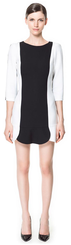 Black and white dress from Zara