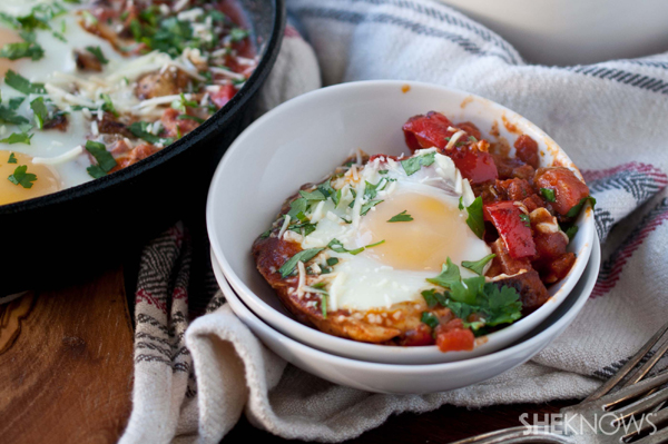 Breakfast skillet with chorizo and eggs recipe