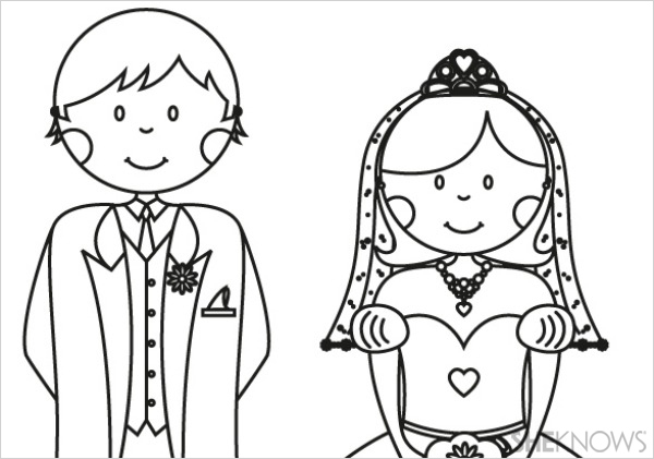 Wedding colouring printables autos post for Wedding coloring pages to print