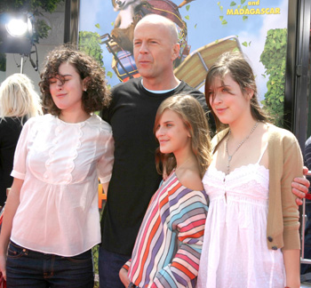 Bruce Willis and kids