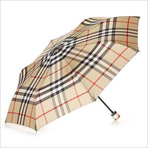 burberry trafalgar packable check umbrella