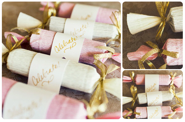 candy poppers as a do it your self wedding favor craft, by Posh Paperie