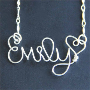 Carissa's Silver Lining custom name necklace