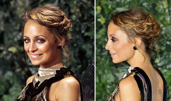 Nicole Richie's braided updo