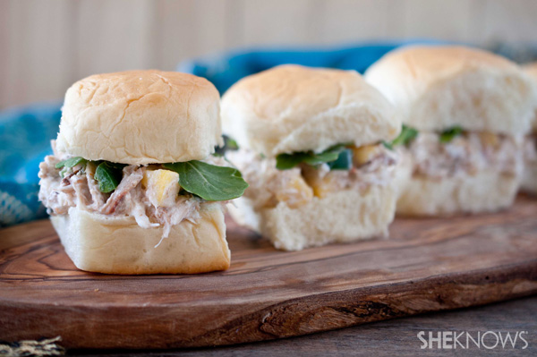 Crab and mango sliders recipe