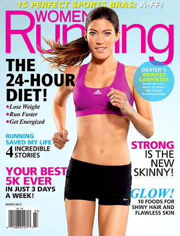 Jennifer Carpenter on the cover of Womens Runnings March issue