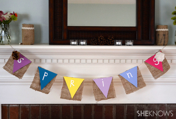 Make your own mantel sign for spring