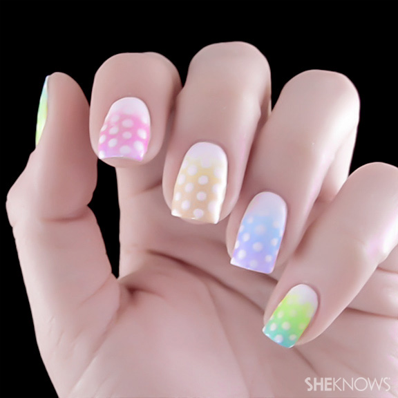 Chic Easter egg nail art