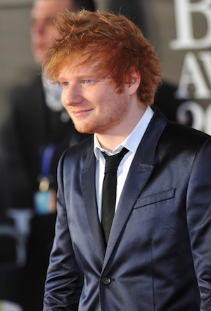 Ed Sheeran at the 2013 BRIT Awards.