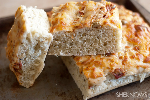 Focaccia with parmesan sun dried tomatoes and rosemary recipe