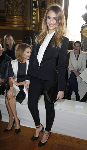 Jessica Alba at Paris Fashion Week