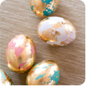 Golden Marbled easter egg
