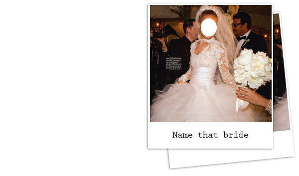 Match the celeb with the wedding getup!