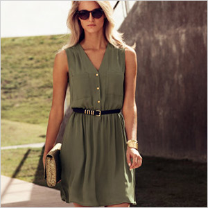h&m sleeveless casual dress