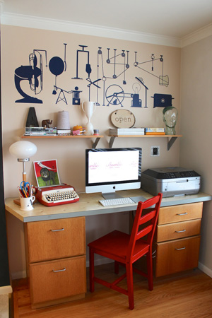 Andie Powers' home office