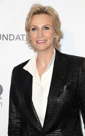 Jane Lynch at Elton John's party