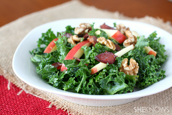 kale apple and bacon salad